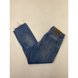 Madewell High-Rise Slim Crop Boy Jeans Blue